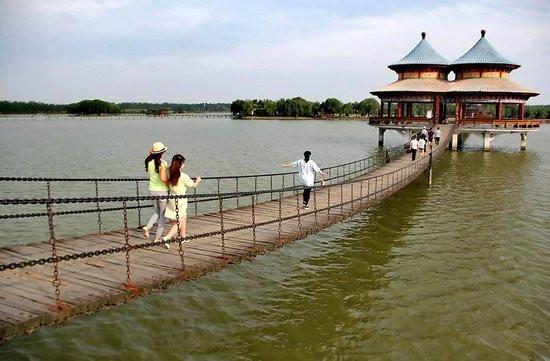 """八里河风景区是国家aaaaa级旅游景区,环保""""全球500佳"""",地处安徽省阜阳"""
