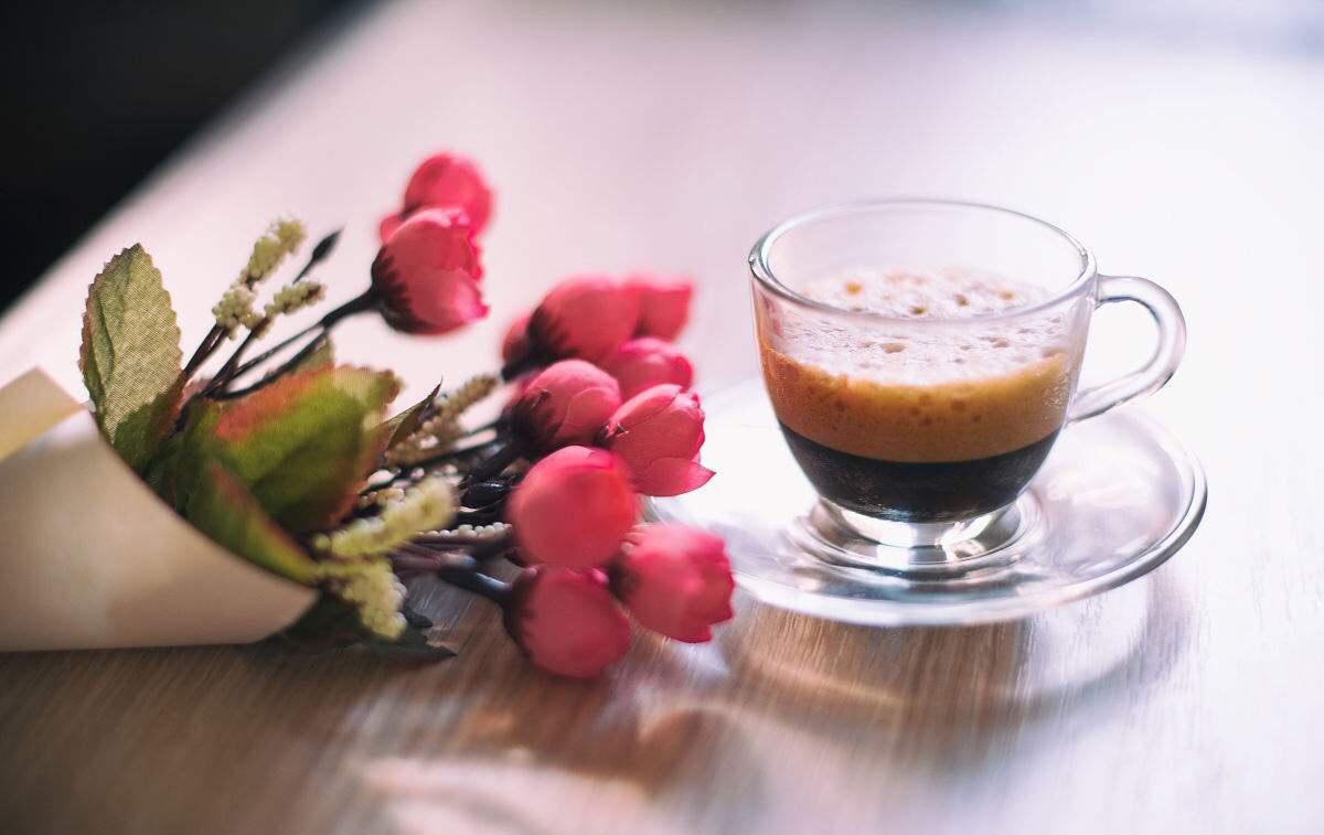 咖啡与风景图片